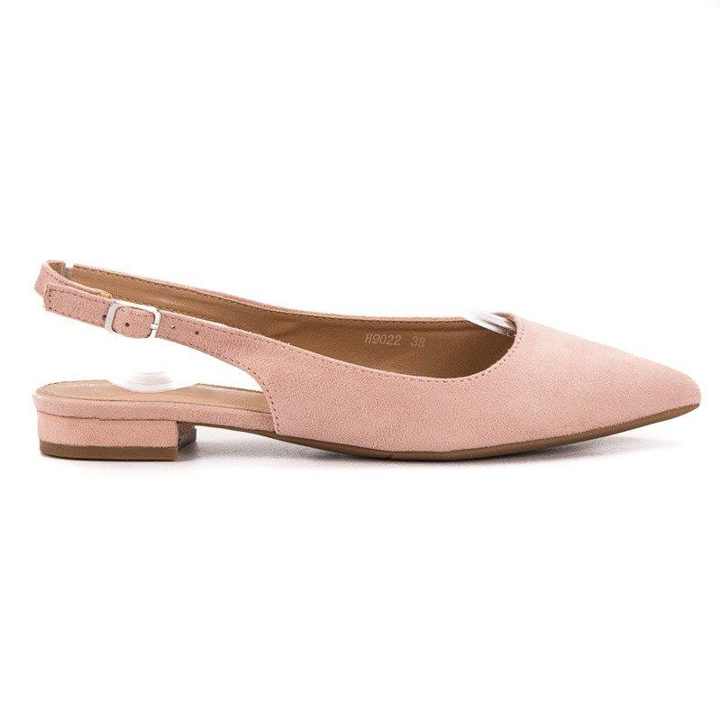sale retailer d90ce 1f6f5 SHELOVET pink Modische Ballerinas aus Wildleder