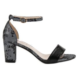 Goodin grau Stylische Sandaletten mit hohen Absätzen