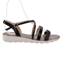 Kylie Schwarze Sandalen auf der Plattform