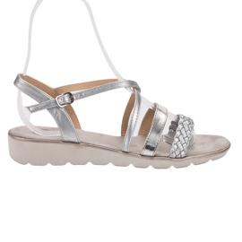 Kylie grau Silberne Sandalen auf der Plattform