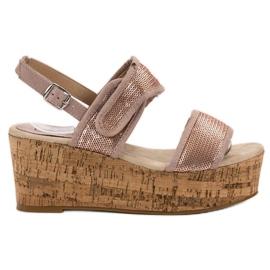 Kylie pink Sandalen mit Klettverschluss