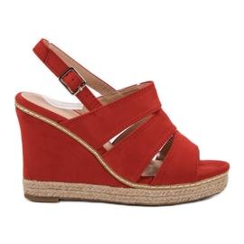 Primavera Rote Sandalen