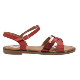 L. Lux. Shoes Stilvolle rote Sandalen