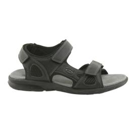American Club Amerikanische, schwarze HL06-Sandaletten