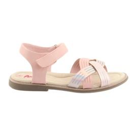 Pink Sandalen Mädchen aus Metall American Club GC23