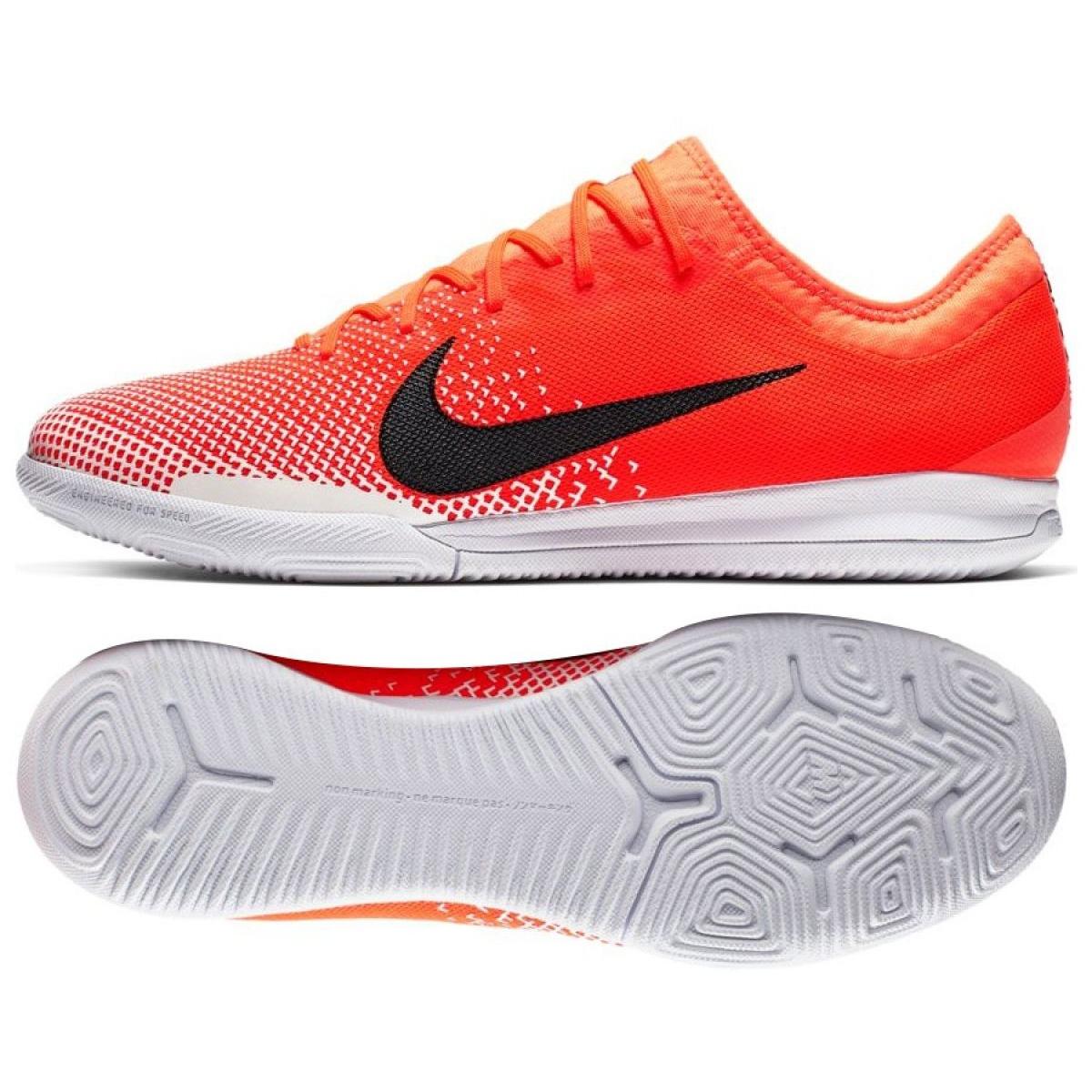 Hallenschuhe Nike Mercurial Vapor 12 Pro Ic M Ah7387 801 Weiss Orange Rot