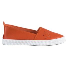 Kylie orange Slip-on-Sneaker