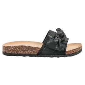 Queen Vivi schwarz Lässige Flip-Flops mit Brokat