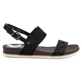 Evento Schwarze durchbrochene Sandalen