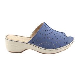 Blau Damenhausschuhe Koturno Caprice 27351 Jeans