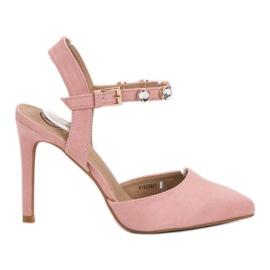 Kylie pink Stilettos mit exponierter Ferse