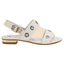Kylie Lässige weiße Sandalen