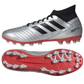Fußballschuhe adidas Predator 19.3 Ag M F99989 silber schwarz, grau / silber