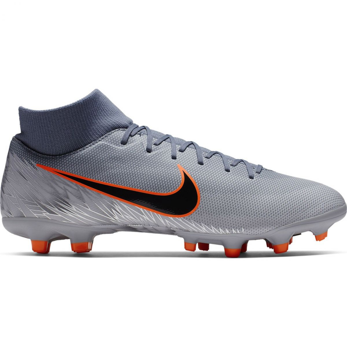 lace up in skate shoes excellent quality Fußballschuhe Nike Mercurial Superfly 6 Akademie FG / MG M AH7362-408 grau