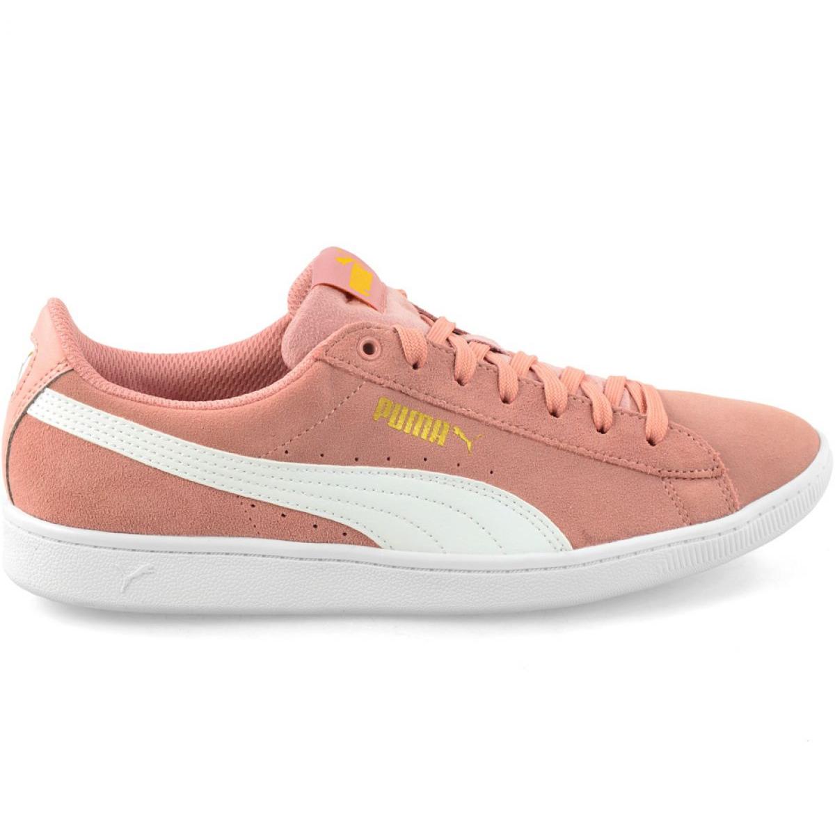 Pink Schuhe Puma Vikky Peach Beige Puma Weiß W 362624 25