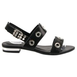 Kylie Lässige schwarze Sandalen