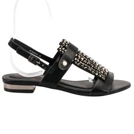 Kylie Schwarze Damen Sandalen