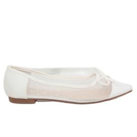 Ballerinas für Frauen weiß LT119P Weiß