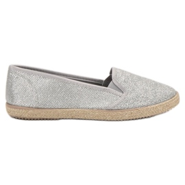 Balada grau Silberne Slipons