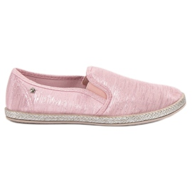 Balada Glänzende Sneakers Slip On pink