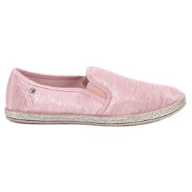 Balada pink Glänzende Sneakers Slip On