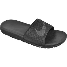 Schwarz Hausschuhe Nike Sportswear Solarsoft Benassi M 705474-091
