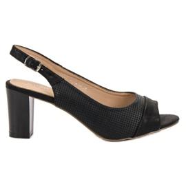 Evento Elegante schwarze Sandalen