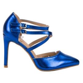 Kylie blau Glänzende Modestollen