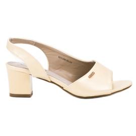 Goodin gelb Elegante Slip-On Sandalen
