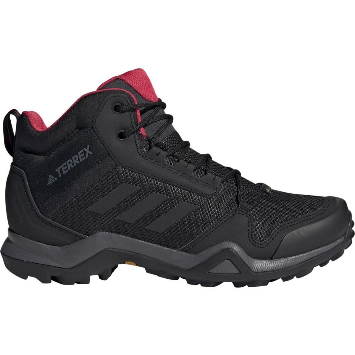 Schwarz Trekkingschuhe adidas Terrex AX3 Mid Gtx W BC0590