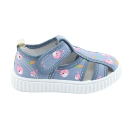 American Club American Shoes Kinderschuhe mit Velcro-Inlay-Leder