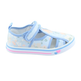 American Club American Shoes Kinderschuhe mit Velcro-Inlay-Leder