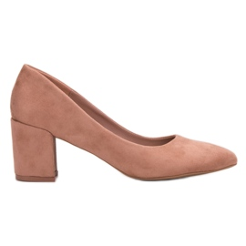 Small Swan pink Wildleder Pumps