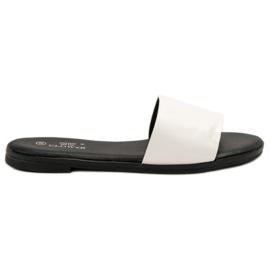 Clowse Klassische weiße Pantoffeln