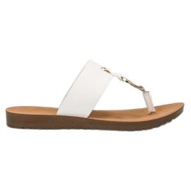 Weiß Stylische VINCEZA Flip-Flops