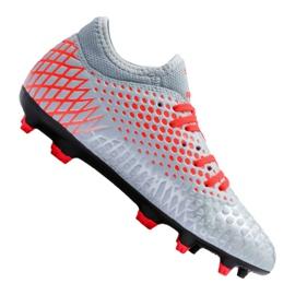 Fußballschuhe Puma Future 4.4 Fg / Ag Jr 105696-01 rot, grau / silber grau