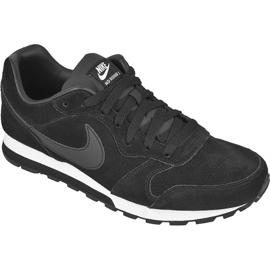 Schwarz Schuhe Nike Sportswear Md Runner 2 Leder Premium M 819834-001