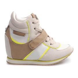 Braun Modische Sneakers JT4 Beige