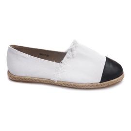 Schwarz Sneakers Espadrilles Leinen 760 Weiß