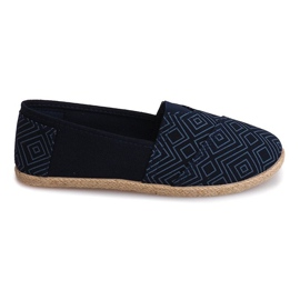 Sneakers Espadrilles Leinen B211-3 Blau