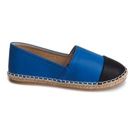 Sneakers Espadrilles Leinen LX116 Blau