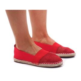 Sneakers Espadrilles, durchbrochen 188-38 Rot