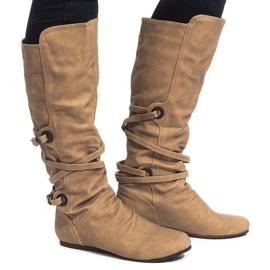Braun Hochisolierte Stiefel E0362-7 Beige