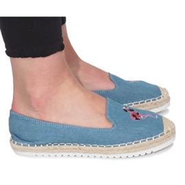 Blaue Espadrilles Flaming Jeans