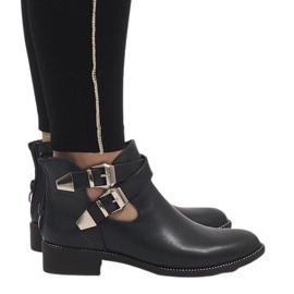 Ideal Shoes marine Dunkelblaue offene Stiefeletten Y8157