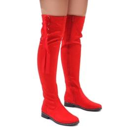 Foreverfolie Rote warme Wildlederstiefel H308