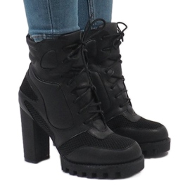 Vices Schwarze Stiefel am Pfosten 9132-1