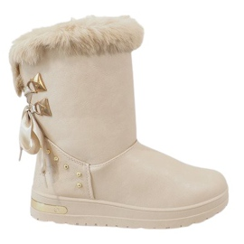 Braun Damen beige Schneeschuhe AN-107