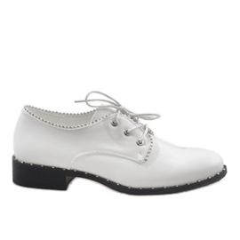 Weiße Schuhe Jazzówki Ćwieki 6288-2