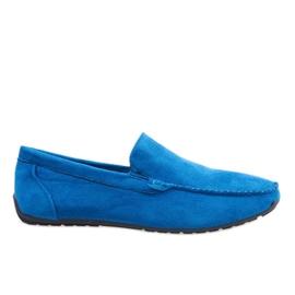 Dunkelblaue elegante Slipper Schuhe AB07-6